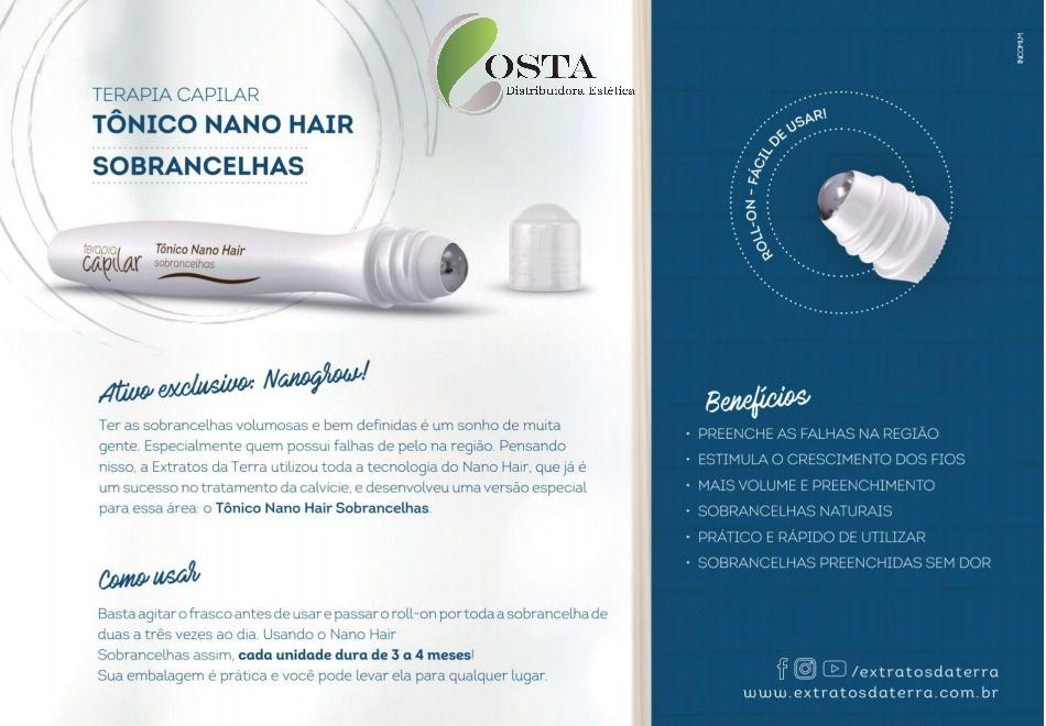 TERAPIA CAPILAR NANO HAIR SOBRANCELHAS LINHA HOME CARE 15 ML  - Misstética