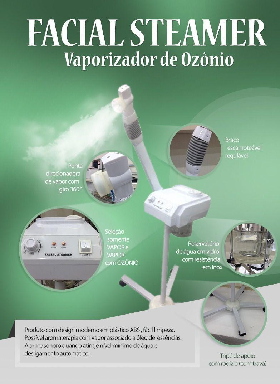 VAPOR DE OZÔNIO FACIAL STEAMER - ESTEK (220V)  - Misstética