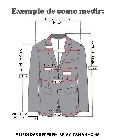 Blazer em Moletom Angelo Bertoni de Alta Costura Slim
