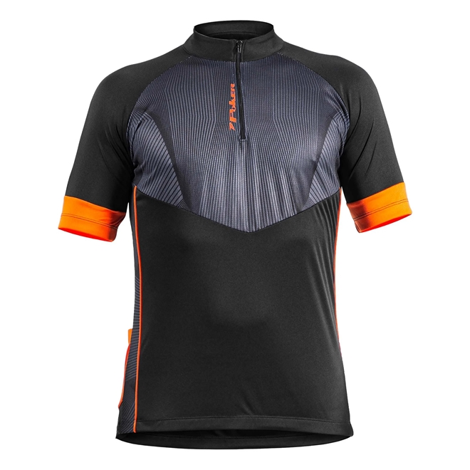 Camisa Ciclista Poker Com Ziper Roads Manga Curta