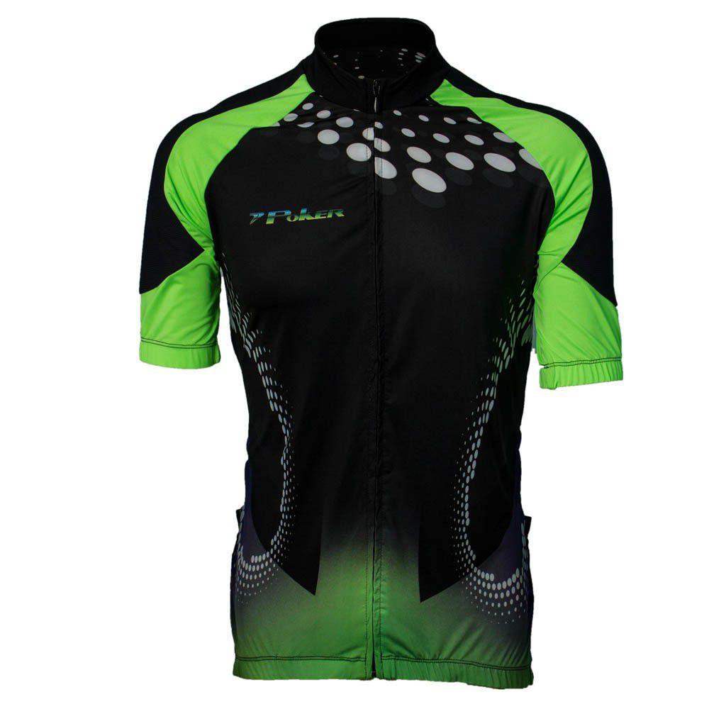 Camisa Poker Ciclista Com Zíper Torio