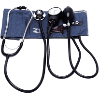 Aparelho de pressão esfigmomanômetro com braçadeira e estetoscópio simples