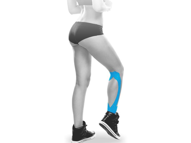 Bandagem elástica adesiva pre-cut aplicação panturrilha - Ortho Pauher