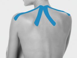 Bandagem elástica adesiva pre-cut aplicação pescoço - Ortho Pauher