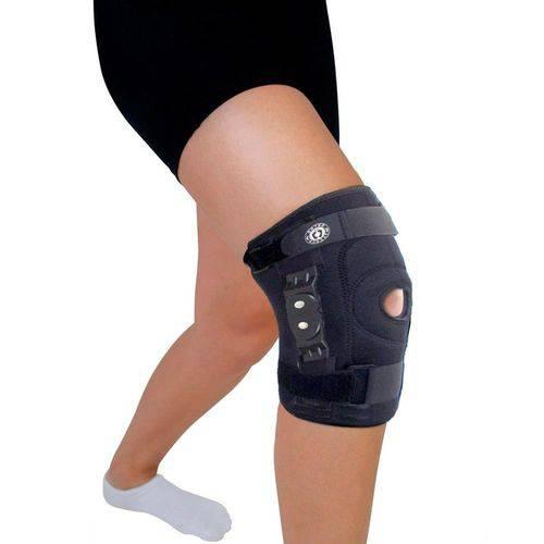 Joelheira ortopédica neoprene articulada policêntrica com cintas - Ortho Pauher
