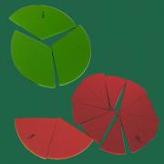 Discos de Frações em Madeira