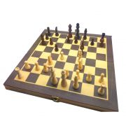 jogo de Xadrez e Dama de Madeira