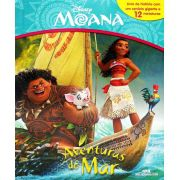 Livro Miniaturas Moana - Aventuras do Mar