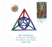 MagStix Kit 38 Peças Colorido
