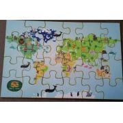 Mapa Mundi Animais