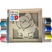 Pinta Quadrinhos 3D Elefante