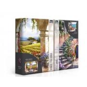 Quebra-Cabeça 1000 Peças: Recantos Italianos - Toscana e Vinha Italiana