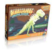 Quebra - Cabeça 3D Dinossauros - Tiranossauro Rex Brilha no Escuro