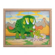 Quebra-Cabeça Animais e Filhotes Dinossauro