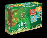 Quebra-Cabeça Em Blocos - Floresta