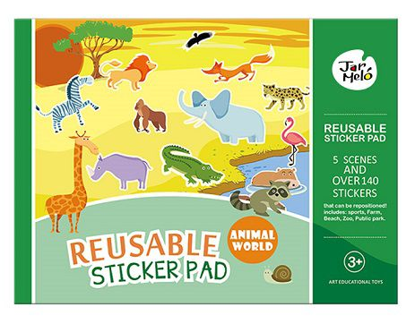 Adesivos Reutilizáveis - Animais
