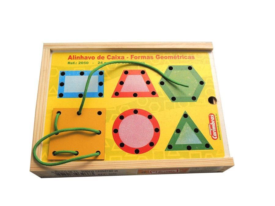 Alinhavo de Caixa Formas Geométricas