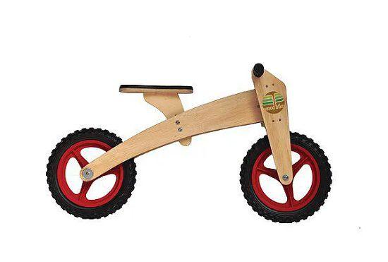 Bicicleta de Madeira 2 em 1
