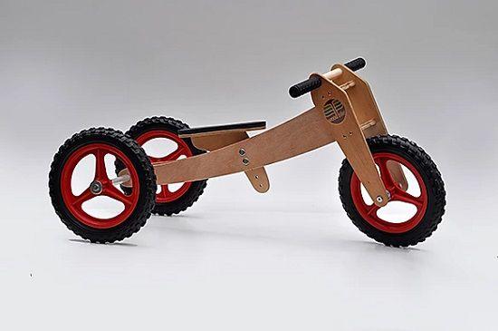 Bicicleta de Madeira 3 em 1