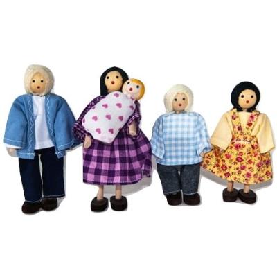 Bonecos Família Branca com Bebê