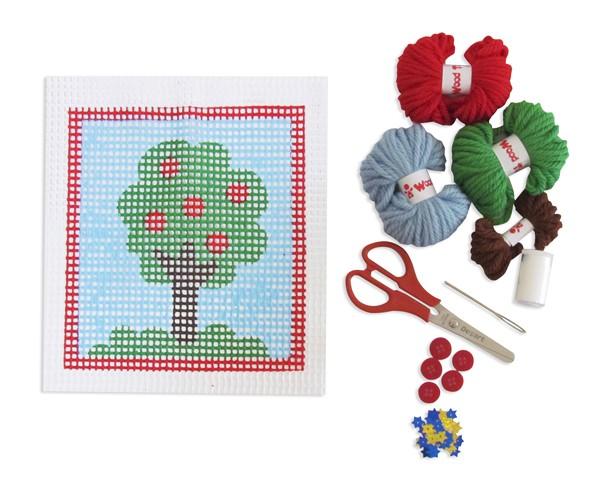 Bordado Árvore Kit Colagem