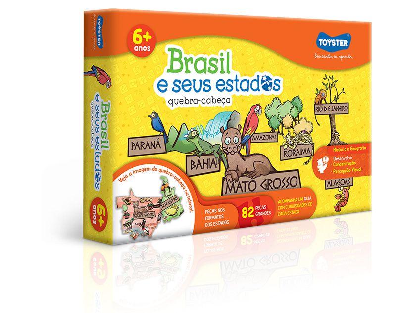 Brasil e Seus Estados Quebra-Cabeça 82 Peças Grandes