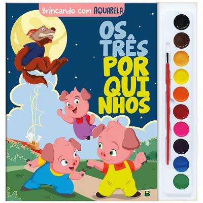 Brincando com Aquarela: Os Três Porquinhos