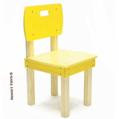 Coleção Móveis: Cadeira Pinus Amarela