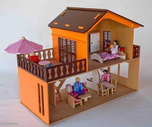 Casa com Piscina com Móveis Pintada
