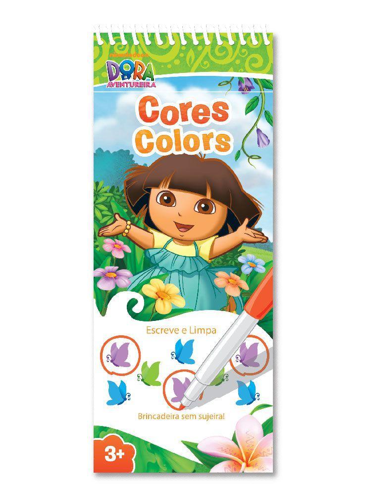 Dora a Aventureira Escreve e Limpa Cores (Bilíngue)