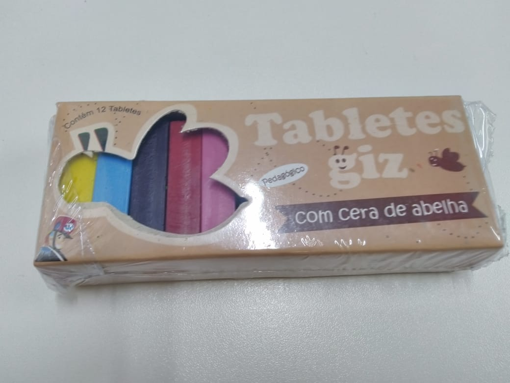 Tabletes de Giz de Cera de Abelhas com 12 cores