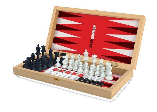 Jogo de Xadrez, Damas e Gamão