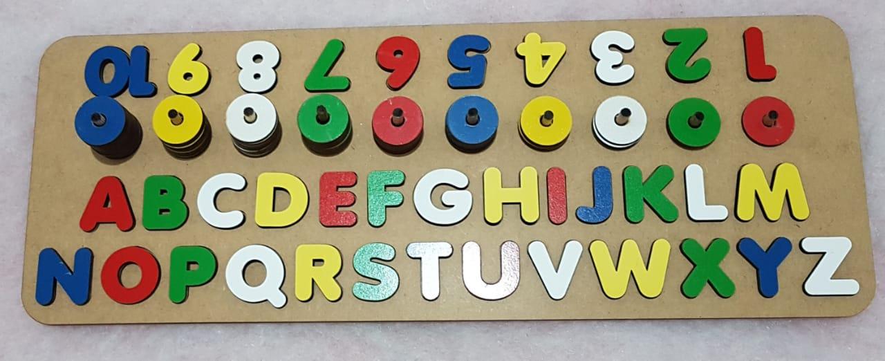 Brinquedo Montessoriano Alfabeto/Números