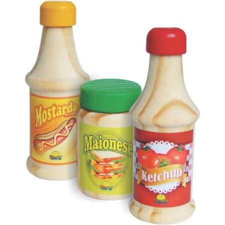 Brincando de Comidinha: Ketchup, Mostarda e Maionese