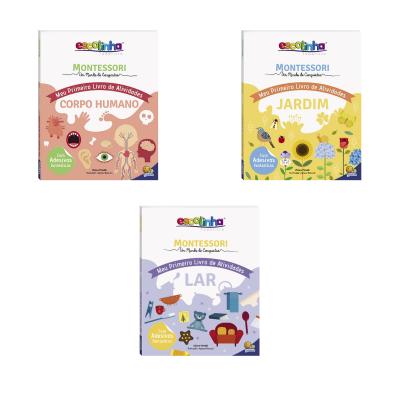 Kit de Livros de Atividades Escolinha Montessori