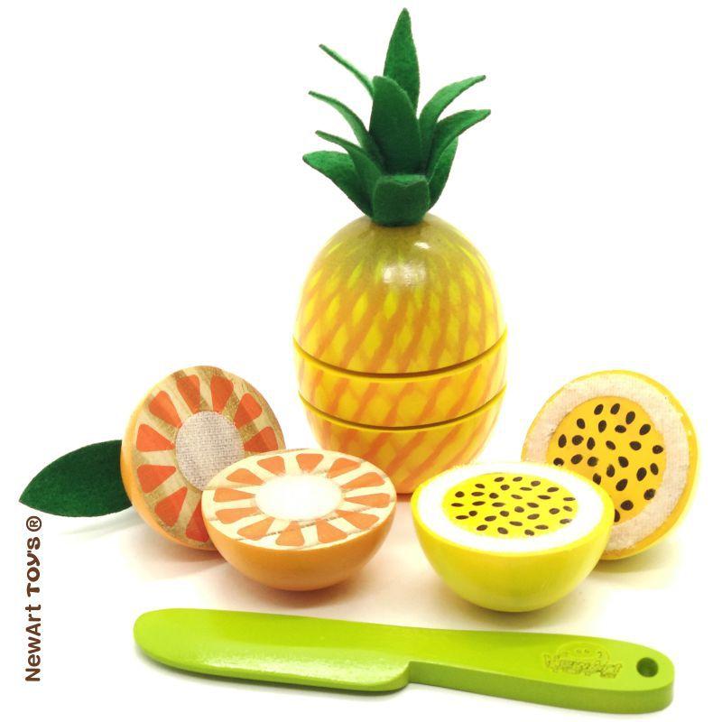 Kit Frutinhas Com Corte: Abacaxi, Laranja e Maracujá