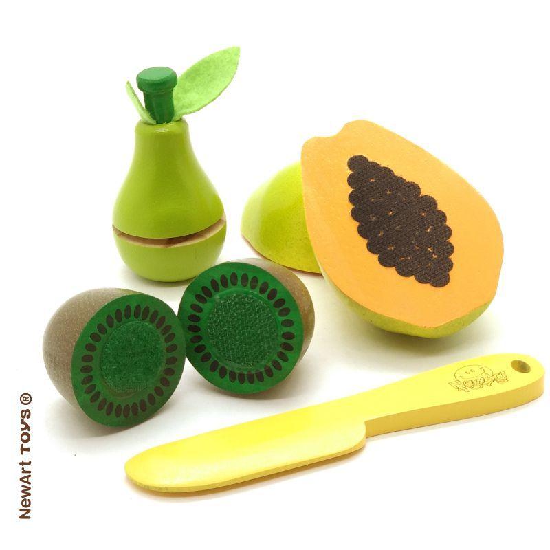 Kit Frutinhas Com Corte: Mamão, Pera e Kiwi