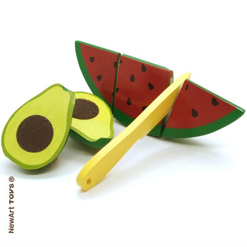 Kit Frutinhas Corte Abacate e Melancia