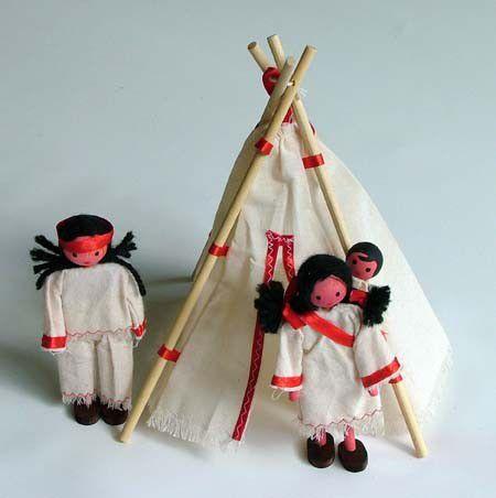 Kit Bonecos Indígenas