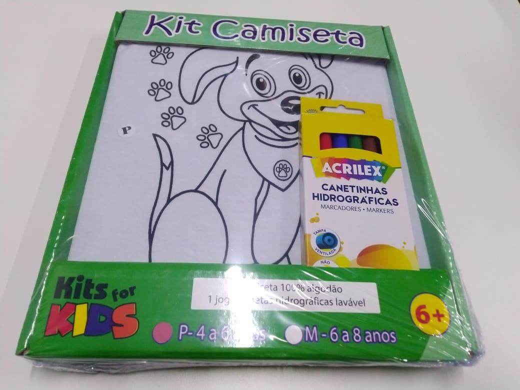 Kit Pintura em Camiseta - Cachorro