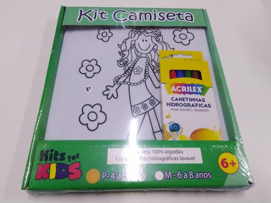 Kit Pintura em Camiseta - Menina