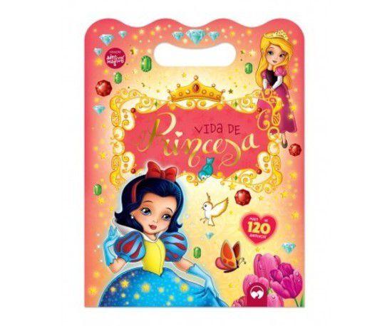 Livro Adesivos Mágicos Vida de Princesa