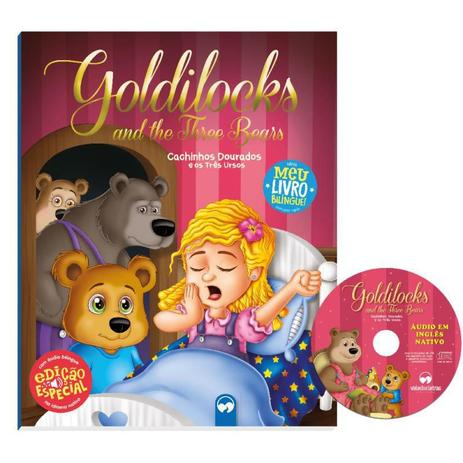 Livro Bilíngue: Cachinhos Dourados e os Três Ursos