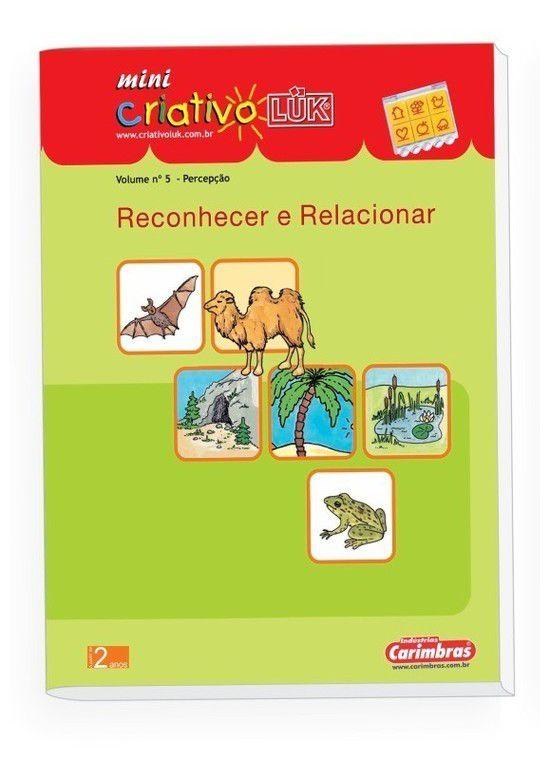 Livro Mini Criativo Lük Volume 5 - Reconhecer e Relacionar