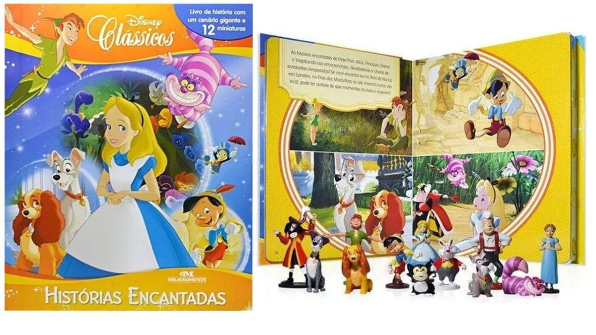 Livro Miniaturas Clássicos Disney Histórias Encantadas