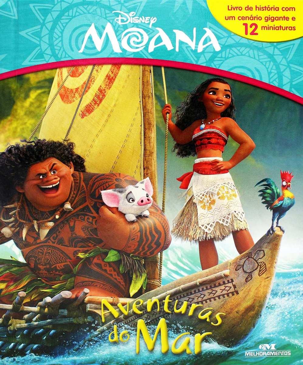 Livro Miniaturas Moana - Aventuras do Mar