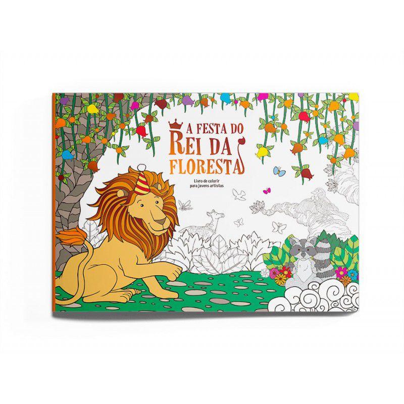 Livro para Colorir - A Festa do Rei da Floresta