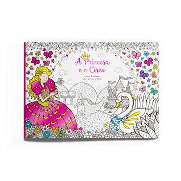 Livro para Colorir - A Princesa e o Cisne
