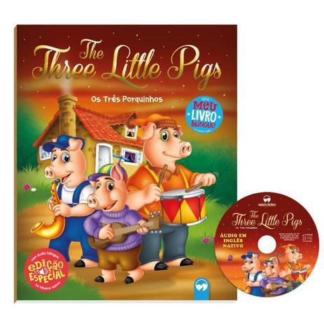 Livro Bilíngue The Three Little Pigs - Os Três Porquinhos