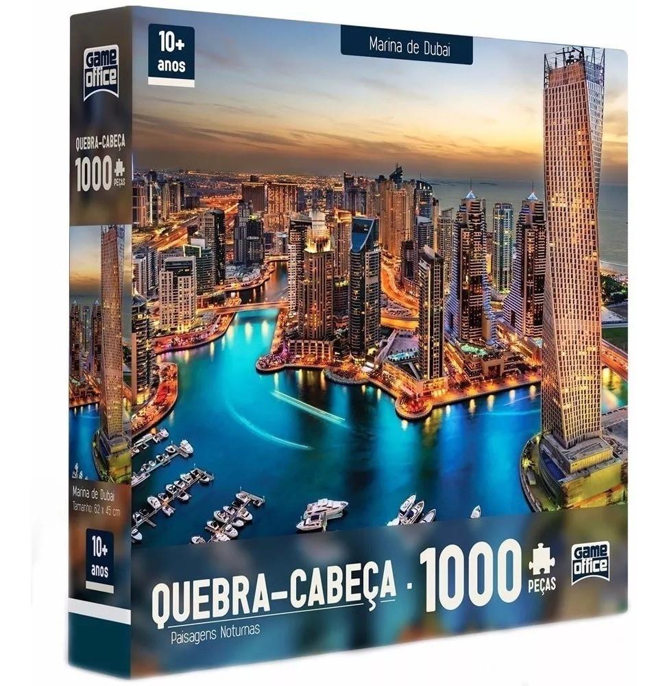Marina de Dubai - Quebra-Cabeça 1000 Peças - Paisagens Noturnas